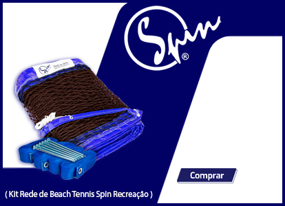 Kit Rede de Beach Tennis Spin Recreação